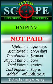 ссылка на мониторинг http://www.hyipscope.org/?a=details&lid=6282