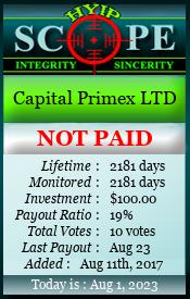 www.hyipscope.org - hyip capital primex ltd